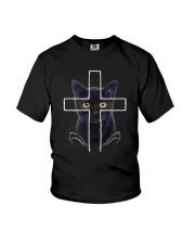 Black Cat Cross Youth T-Shirt thumbnail