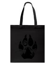 Wolf Pawprint Tote Bag thumbnail