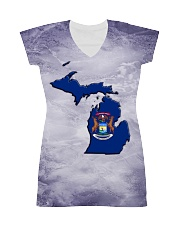 Michigan State Flag All-over Dress thumbnail