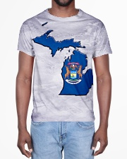 Michigan State Flag All-over T-Shirt aos-all-over-T-shirt-lifestyle-front-02