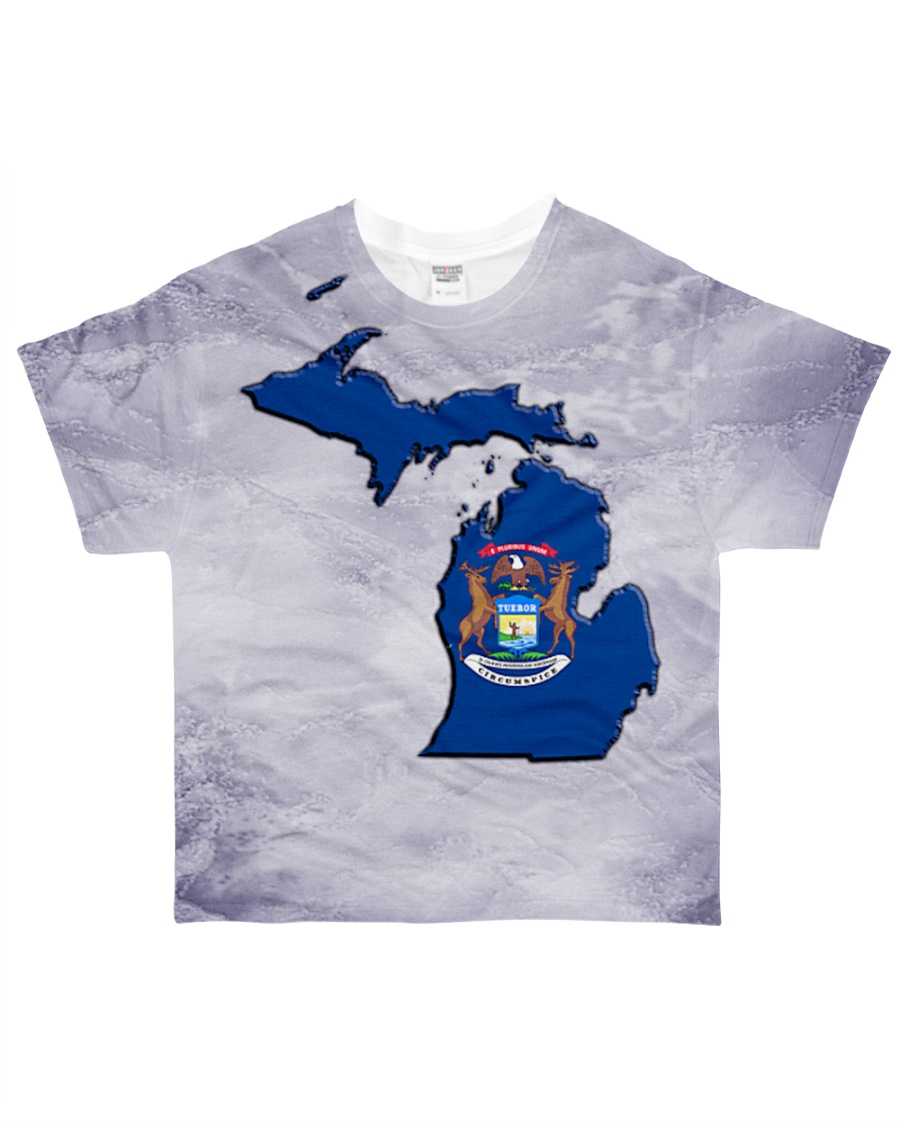 Michigan State Flag All-over T-Shirt