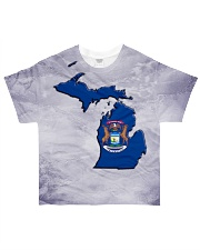 Michigan State Flag All-over T-Shirt front