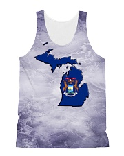 Michigan State Flag All-over Unisex Tank thumbnail