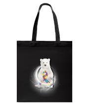 Polar Bear and Autism Tote Bag thumbnail