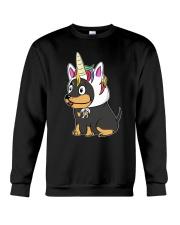 Doberman Pinscher Hat Crewneck Sweatshirt thumbnail