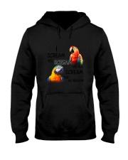 Bird Parrot Scream Hooded Sweatshirt thumbnail