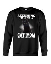 Black Cat Mom Crewneck Sweatshirt thumbnail