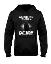 Black Cat Mom Hooded Sweatshirt thumbnail