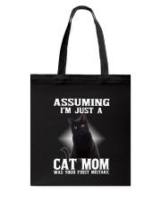 Black Cat Mom Tote Bag thumbnail