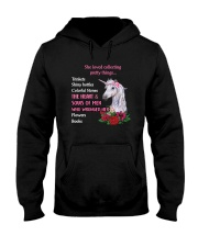 Unicorn - She loved collecting pretty things Hooded Sweatshirt thumbnail