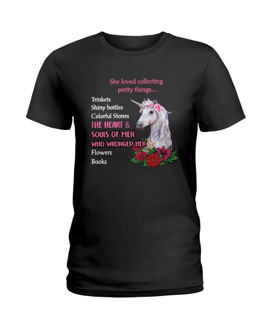 Unicorn - She loved collecting pretty things Ladies T-Shirt
