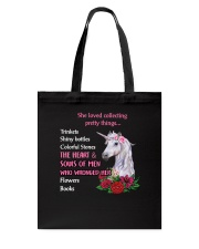 Unicorn - She loved collecting pretty things Tote Bag thumbnail