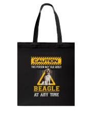 Warning Beagle Tote Bag thumbnail