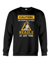 Warning Beagle Crewneck Sweatshirt thumbnail