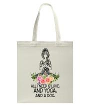 Yoga and a Dog Tote Bag thumbnail