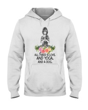 Yoga and a Dog Hooded Sweatshirt thumbnail