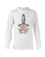Yoga and a Dog Long Sleeve Tee thumbnail