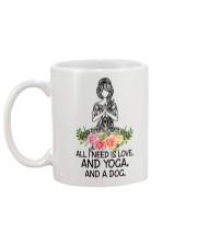 Yoga and a Dog Mug back