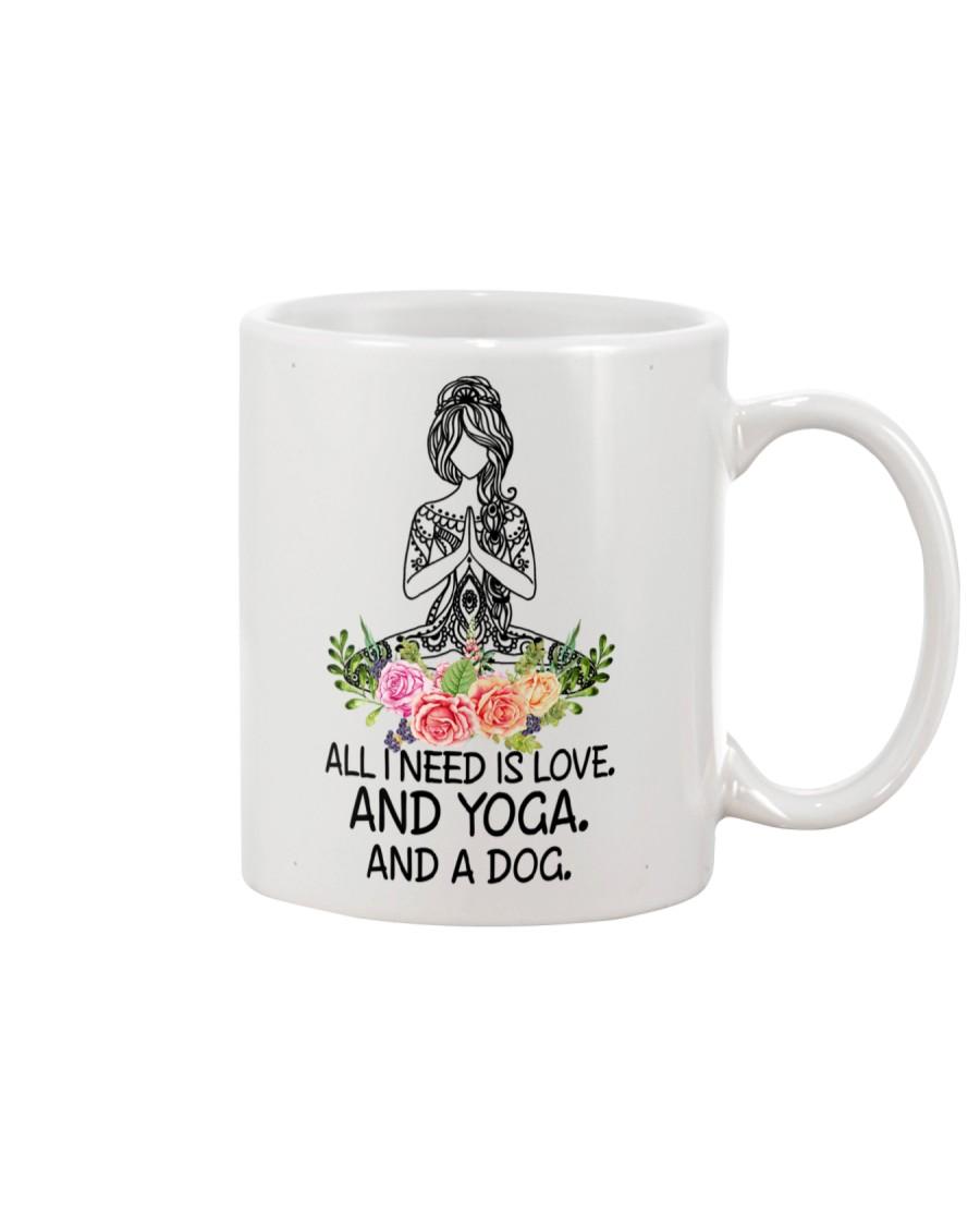 Yoga and a Dog Mug