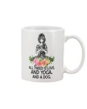 Yoga and a Dog Mug front