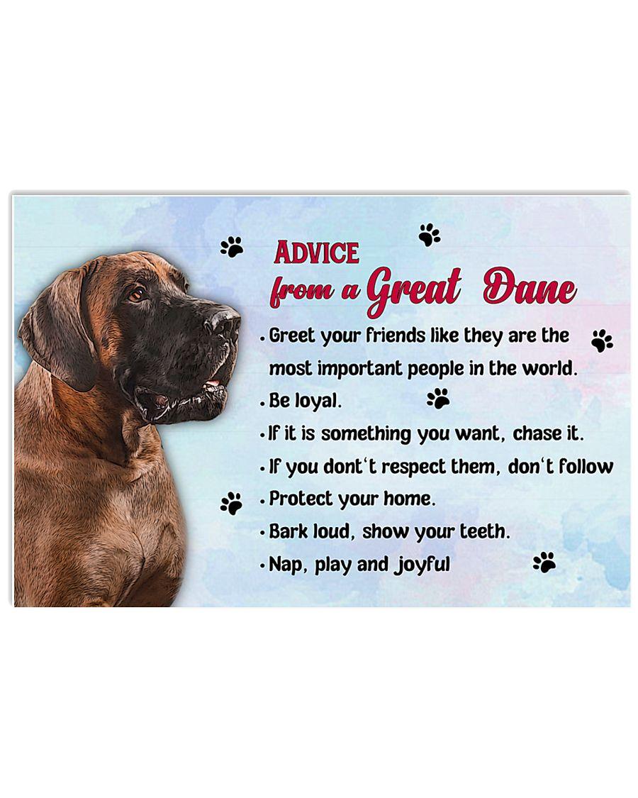 Great Dane Advice 17x11 Poster