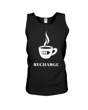 Coffee Recharge Unisex Tank thumbnail