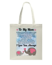 Family To My Mom I Love You Tote Bag thumbnail