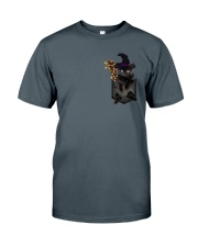 Black cat Halloween Pocket Classic T-Shirt thumbnail