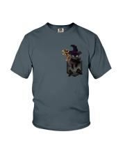Black cat Halloween Pocket Youth T-Shirt thumbnail