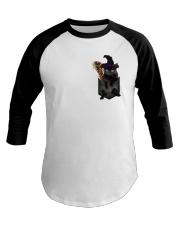Black cat Halloween Pocket Baseball Tee thumbnail