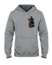 Black cat Halloween Pocket Hooded Sweatshirt thumbnail