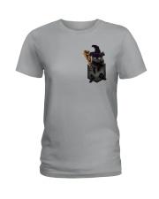 Black cat Halloween Pocket Ladies T-Shirt thumbnail