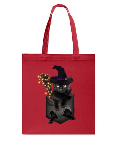 Black cat Halloween Pocket