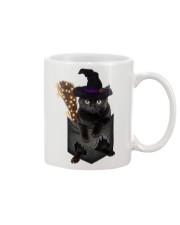 Black cat Halloween Pocket Mug thumbnail