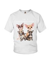 Chihuahua Camp Mau White Youth T-Shirt thumbnail
