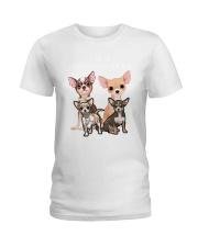 Chihuahua Camp Mau White Ladies T-Shirt thumbnail