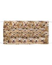 Golden Retriever Awesome H27836 Cloth face mask front