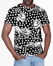 Dinosaur Black And White T5TS All-over T-Shirt aos-all-over-T-shirt-lifestyle-front-03