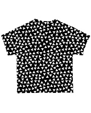 Dinosaur Black And White T5TS All-over T-Shirt back