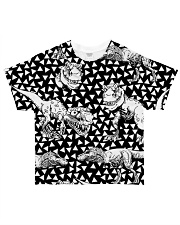Dinosaur Black And White T5TS All-over T-Shirt front