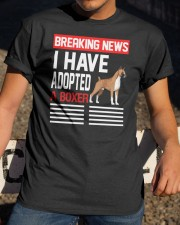 DOGS - BOXER - BREAKING NEWS Classic T-Shirt apparel-classic-tshirt-lifestyle-28