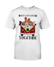 Poodle Let's get lost together Classic T-Shirt front