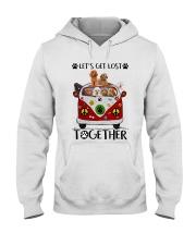 Poodle Let's get lost together Hooded Sweatshirt thumbnail