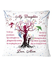 Family - My Daughter Square Pillowcase back