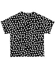 Shark Black And White T5TS All-over T-Shirt back