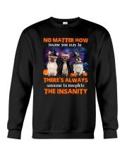 Dog - Halloween insane - French Bulldog Crewneck Sweatshirt front