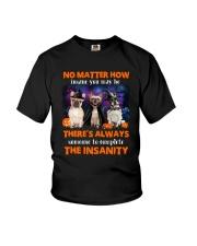 Dog - Halloween insane - French Bulldog Youth T-Shirt thumbnail