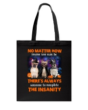 Dog - Halloween insane - French Bulldog Tote Bag thumbnail