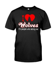I LOVE WOLVES Classic T-Shirt front