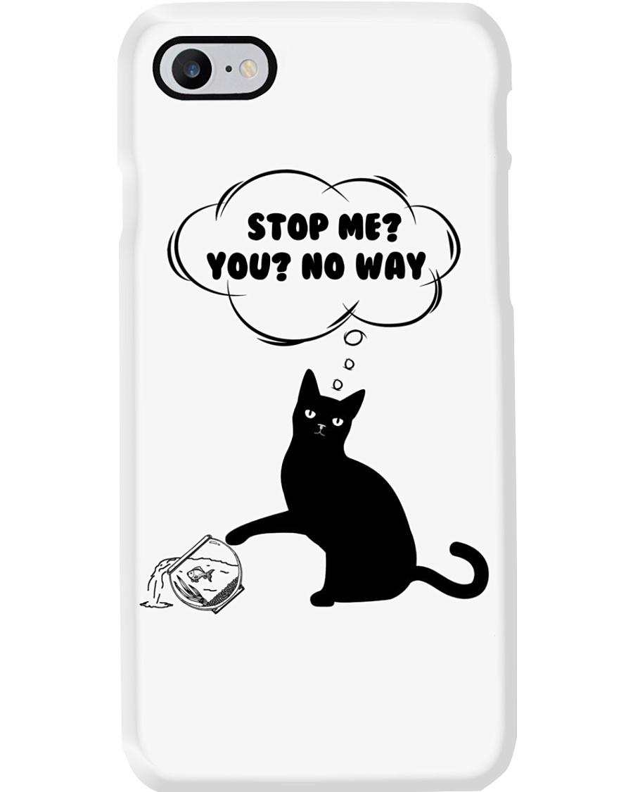 Black cat No way to stop me Phone Case